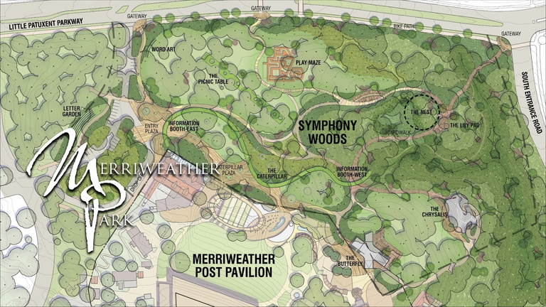 Graphic of Merriweather Park master plan