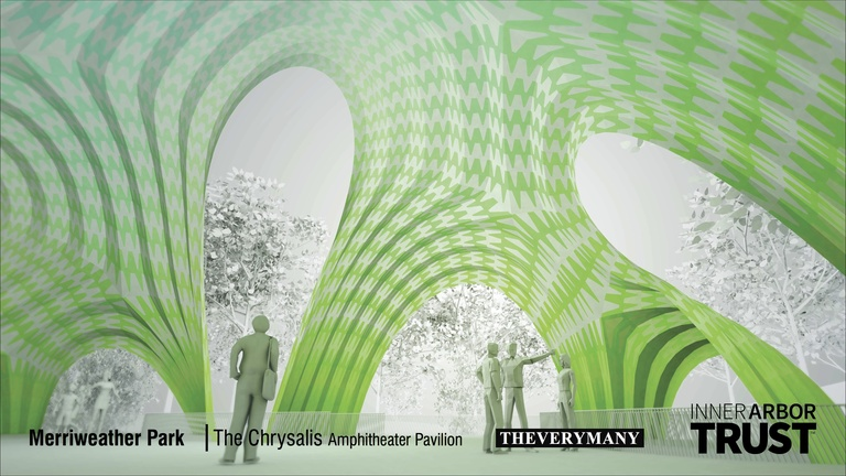 Architectural rendering of the Chrysalis, interior view