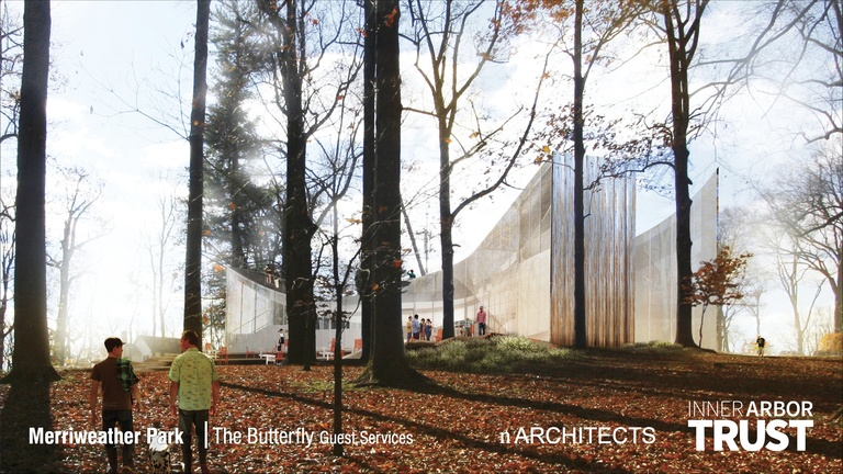 Architectural rendering of the Butterfly