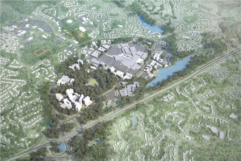 Rendering of proposed Crescent development