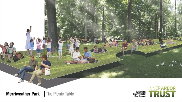 Architectural rendering of the Picnic Table feature