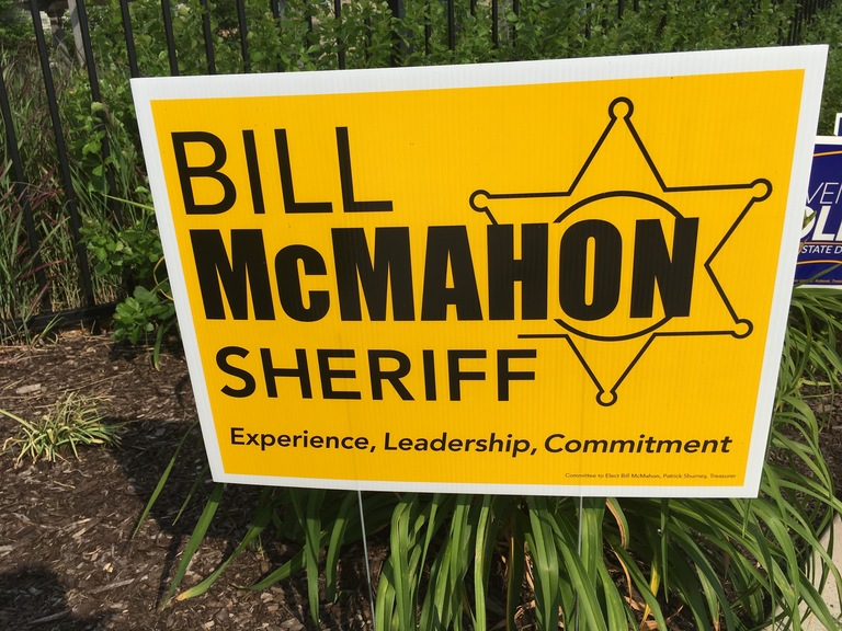Bill McMahon campaign sign, 2018 elections