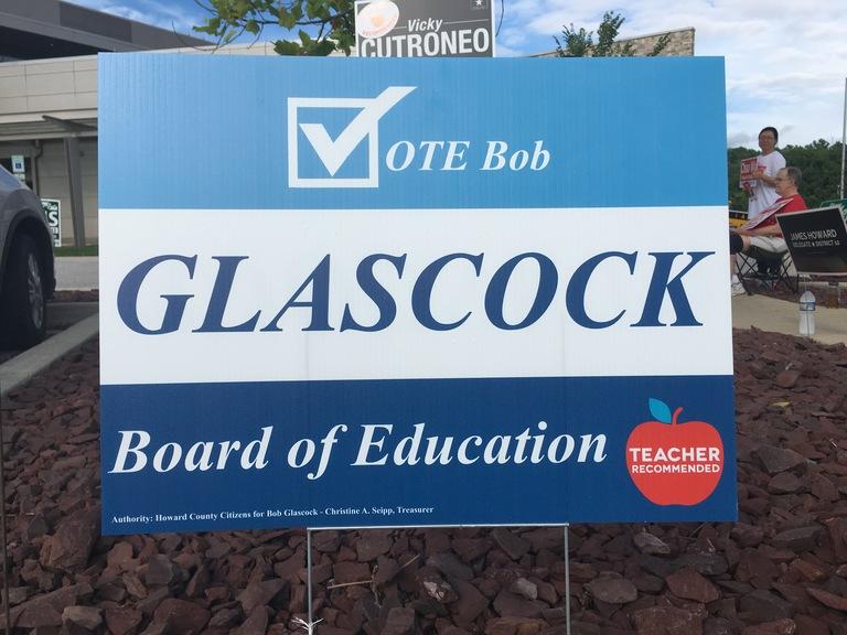 Bob Glascock small campaign sign, 2018 elections