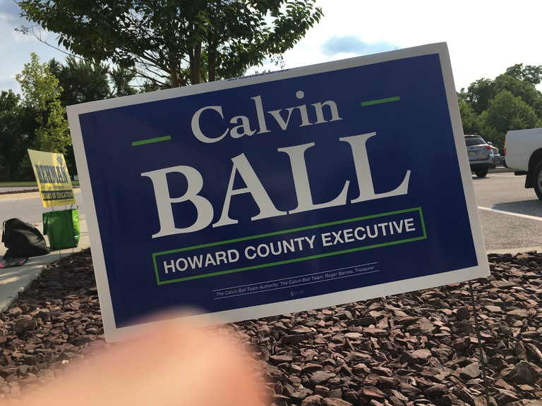 Calvin Ball small campaign sign, 2018 elections