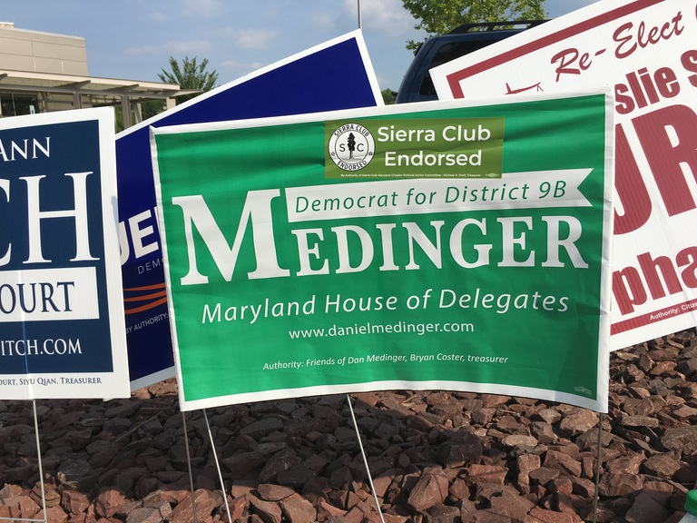 Dan Medinger small campaign sign, 2018 elections