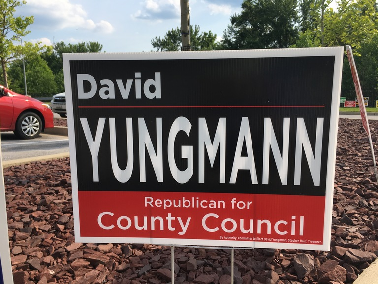 David Yungmann campaign sign, 2018 elections