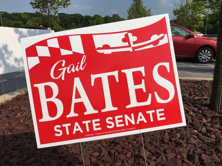 Gail Bates campaign sign, 2018 elections