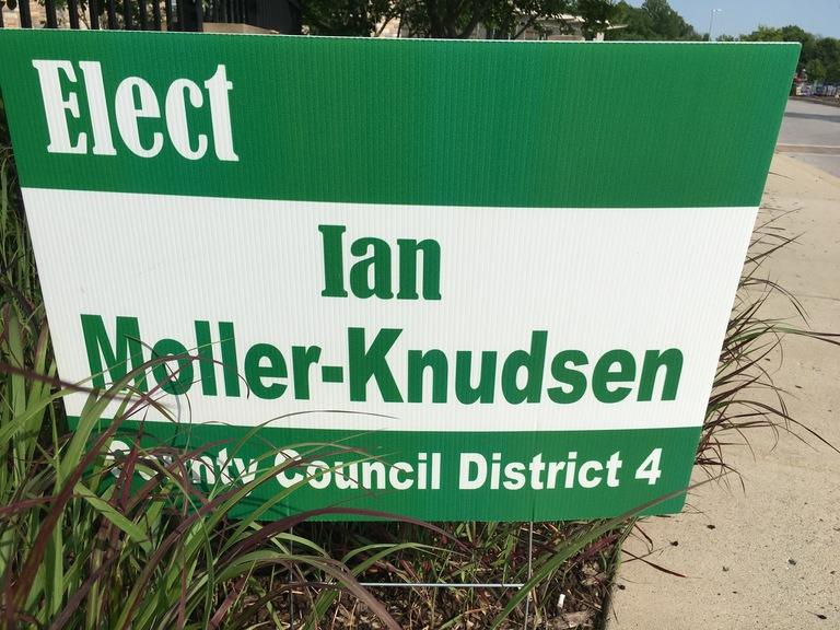 Ian Moller-Knudsen campaign sign, 2018 elections