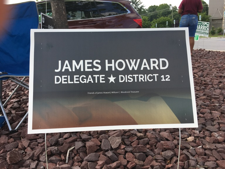 James Howard campaign sign, 2018 elections