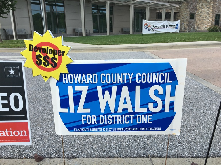 Liz Walsh campaign sign, 2018 elections