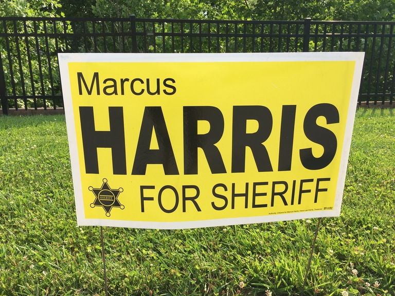 Marcus Harris campaign sign, 2018 elections