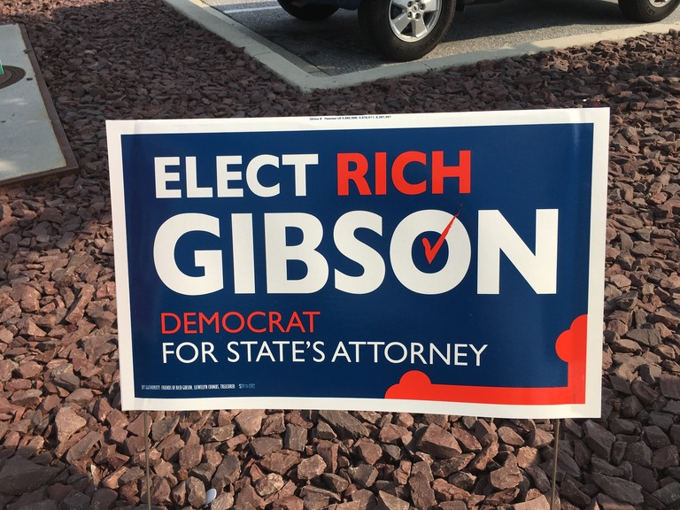 Rich Gibson campaign sign, 2018 elections