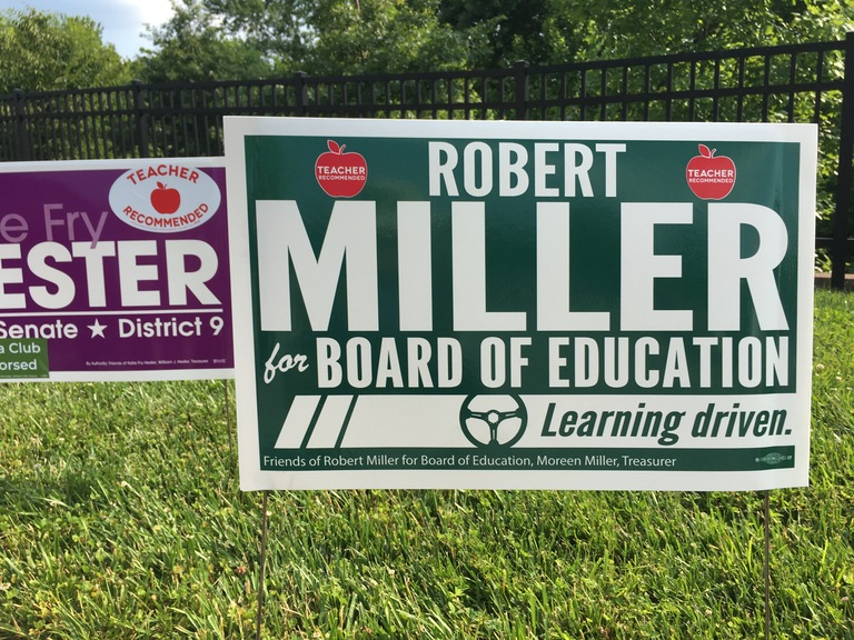 Robert Miller campaign sign, 2018 elections