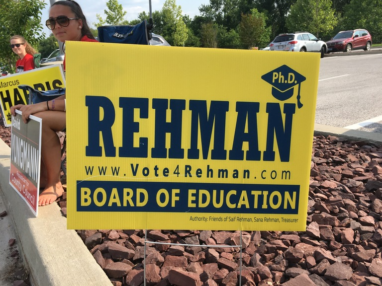 Saif Rehman campaign sign, 2018 elections