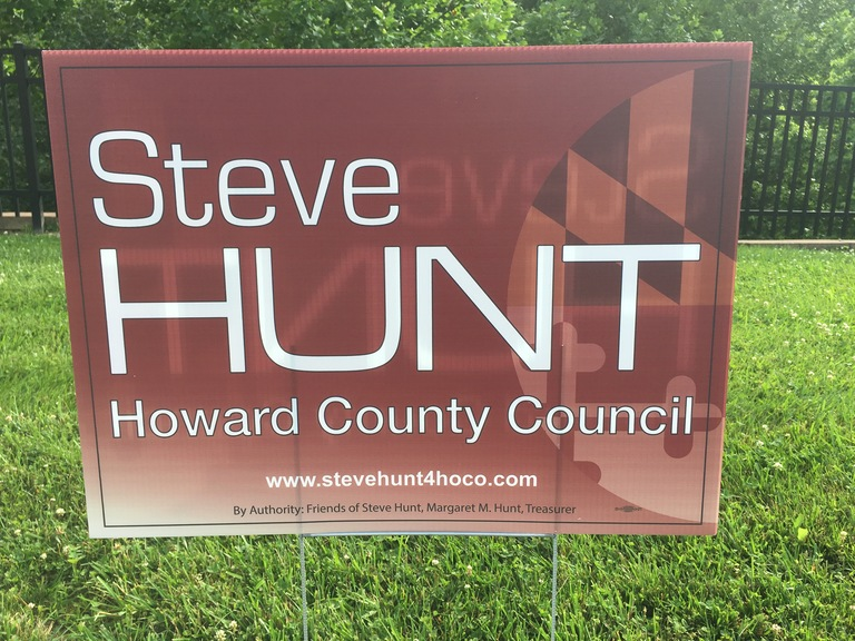 Steve Hunt small campaign sign, 2018 elections