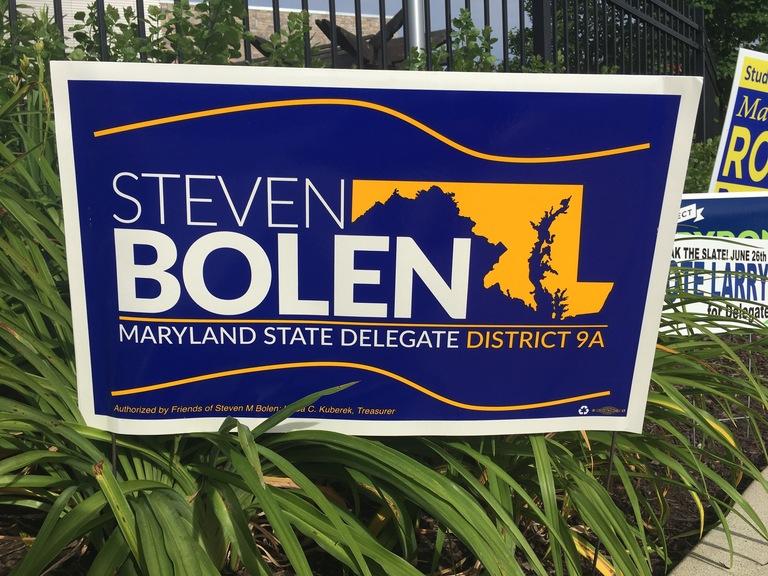 Steven Bolen campaign sign, 2018 elections