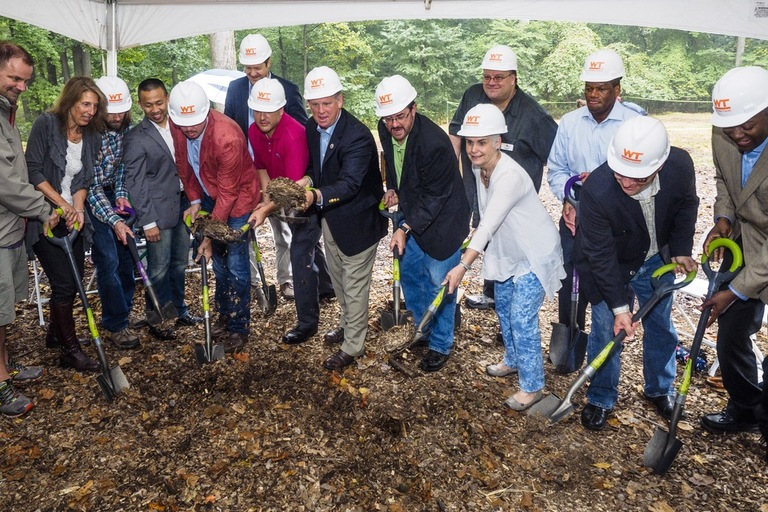 Participants in the groundbreaking for the Chrysalis