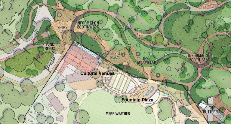 Proposed unfenced boundary between Merriweather Post Pavilion and Symphony Woods