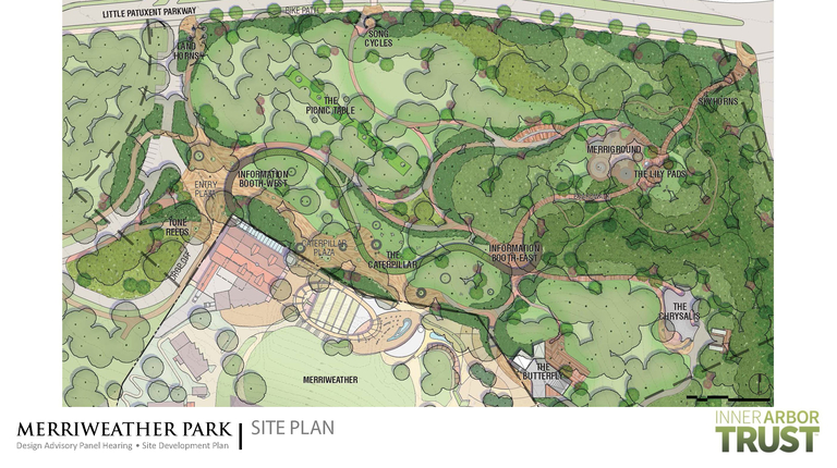 Site plan for Merriweather Park at Symphony Woods
