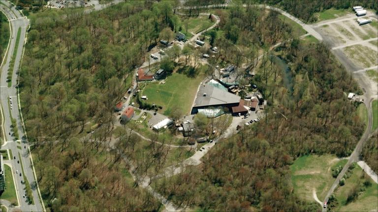 Aerial view of Merriweather Post Pavilion