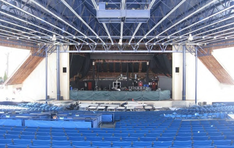 Merriweather proscenium and stagehouse