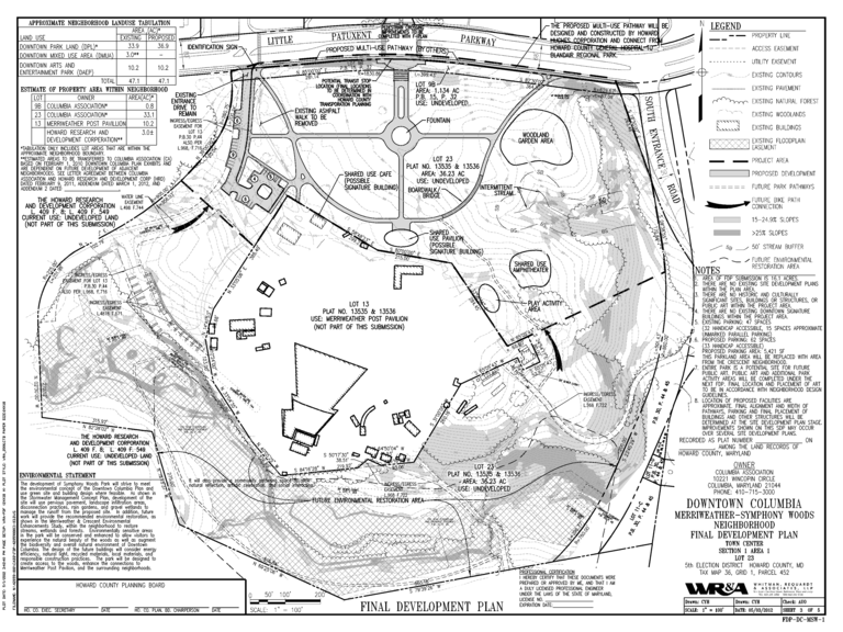 Cy Paumier plan for Symphony Woods