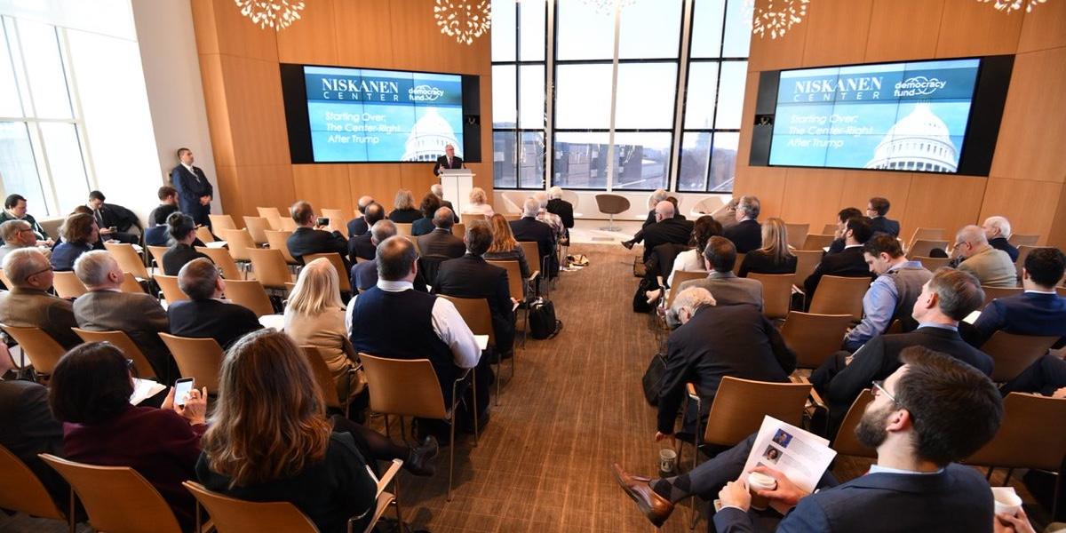 "Maryland Governor Larry Hogan speaks at the Niskanen Center ""Starting Over"" conference"